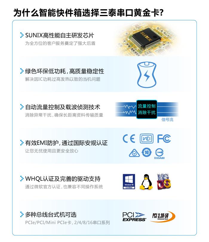 SUNIX高性能RS-232黄金串口卡成为扮演建构自助快递机系统不可缺少好伙伴。